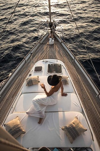 Luxury sailing boat